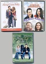 3 PG-13 romantic comedy movies lot Along Came Polly, America's Sweethearts, Dogs