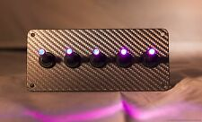 LED toggle switches - PURPLE - w/  GRAY WRAP CARBON FIBER
