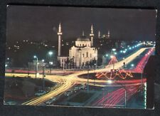 Posted c1970s: Aksaray Square & Mosque, Istanbul at Night
