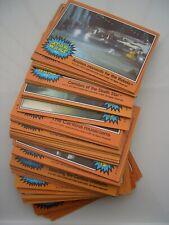 STAR WARS VINTAGE RARE TOPPS 5th SERIES COMPLETE SET OF ORANGE CARDS EXCELLENT.