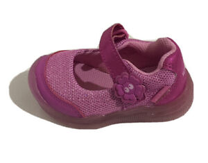 surprise by stride rite toddler baby girls pink Mary Jane light up shoes Size 5