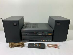 Nakamichi Compact Receiver 1 AM/FM Radio & CD/Cassette Player w/ Speakers 1993