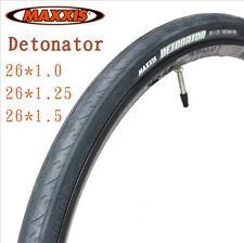 "1 Pair Maxxis M203 Detonator Tyres Black Rubber Road Bike Tires 26x1.0/1.25/1.5"""