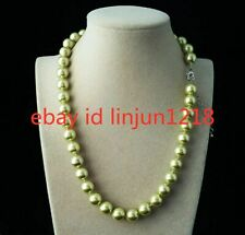 New Natural 10mm Green South Sea Shell Pearl Fashion Necklace 18""