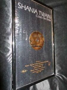 Shania Twain *Come On Over Record SalesAward Plaque With Black Sequin Backdrop!