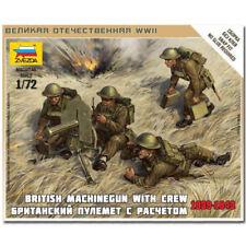 ZVEZDA 6167 British machine gun with crew WWII Model Kit 1:72