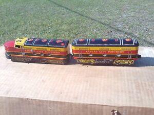 Marx KCS Kansas City Southern O O27 Gauge A B Unit Diesel Locomotives Vintage