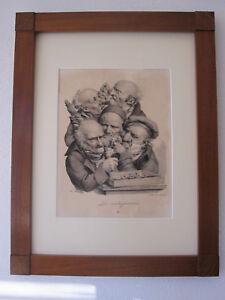 Louis-Leopold Boilly, Les Grimaces 'Les Antiquaires' Lithographie um 1825