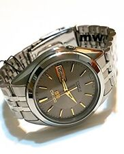 New Seiko 5 SNKL19K1 Automatic Stainless Steel Grey Dial Day Date Watch SNKL19