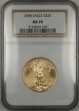 2008 $25 Dollar American Gold Eagle Coin NGC MS-70 *Perfect GEM*