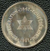 Canada 1867 - 1967 Confederation Silver Medal & Leather Case - BH230