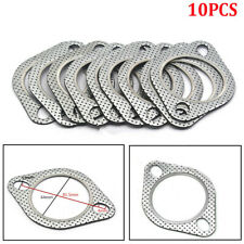 10 x Aluminum 2 Bolt Hole Exhaust Gaskets For 2.5'' Inlet/Outlet Exhaust Flange