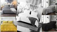 Seersucker Duvet Cover Bedding Set with Pillowcase Single Double King Super King