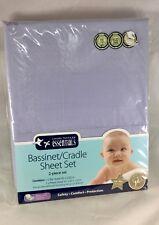 New living textiles Lavender Essentials 2 Piece Cradle Bassinet Sheet Set Baby