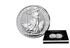 Britannia 1 oz Silber 2020 Großbritannien mit passender Münzkassette