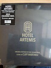 HOTEL ARTEMIS – OST 2X GOLD COLOURED VINYL LP (NEW/SEALED) Cliff Martinez
