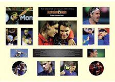 New Roger Federer Rafael Nadal Australia Open Limited Edition Memorabilia Framed