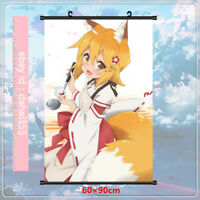 Scroll Poster Decor Home Anime The Helpful Fox Senko-san Wall Gift 60×90cm #X4