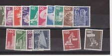 DEUTSCHE BUNDESPOST GERMANY MNH SET INDUSTRY 1975-76 ISSUES 14 VALUES + 2 1979
