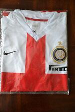 INTER MILAN 2007/2008 CENTENARY AWAY FOOTBALL SHIRT MAGLIA JERSEY NIKE ITALY