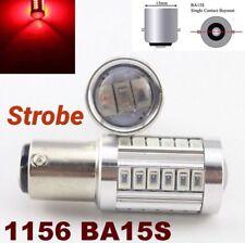 Strobe Flash 1156 BA15S 7506 3497 P21W 33 SMD samsung LED Red Brake Light M1 MAR