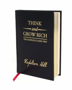 THINK AND GROW RICH Deluxe edition by Napoleon Hill ~ NEW~SEALED ~LEATHER BOUND~