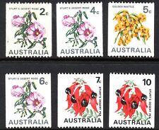 Australia 1970 Floral Coils set of 6 Mint Unhinged