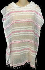 Lemlem Shoka Hooded Hot Pink And White Stripe short Sleeveless SIze Xs NWT $210