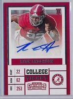 RYAN ANDERSON -  2017 Contenders Draft Ticket AUTO - Alabama Crimson Tide