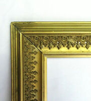 "BIG FITS 13"" X 15""  GOLD GILT ORNATE WOOD PICTURE FRAME FINE ART VICTORIAN"