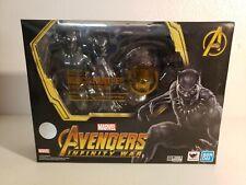 Bandai S.H Figuarts Avengers Infinity War Black Panther & Tamashii Effect Rock