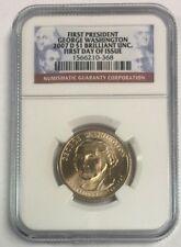 2007 D $1 George Washington Presidential Dollar First Day Issue BU NGC SKU#6148