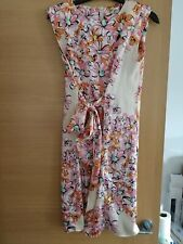 f13995119c40 Ladies pink multi silky look floral dress River Island Size 10