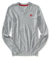 Aeropostale Mens Solid A87 V-neck Knit Sweater 052 XL