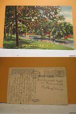 Postcards-Missouri-#15385-Linen [1940's]-Duck Lake in Forest Park, St.Louis, Mo.