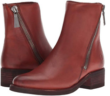 5be148e8a New in Box Womens Frye Demi Zip Bootie Red Clay Soft Full Grain Size 8.5 $
