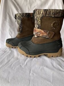 Mossy Oak Ozark Trail Youth Boys' Temp Rated Camo Print Snow Boots Shoes: 9