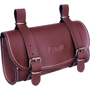 Saddlebag Saddle Brown Velox IN Faux Leather Vintage Bike Bicycle Retro