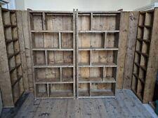 BOOKCASE Big books zig zag reclaimed wood home office loft industrial