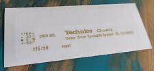 Technics SL-1210 M5G  Custom Sticker Schriftzug gold