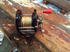 Vintage Penn No. 85 Saltwater Fishing Reel Red Handle
