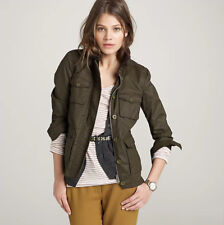 J. CREW Washed and Aged Waxed Utility Jacket in Olive ~ Size XS ~ Worn Twice