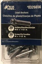 "#6-8 x 1-1/2"" All-Purpose Lead Anchors with Screws 20 ea."