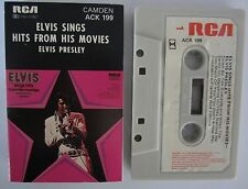 ELVIS PRESLEY ELVIS SINGS HITS FROM HIS MOVIES AUSTRALIAN RELEASE CASSETTE TAPE