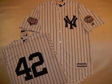 9724 New York Yankees MARIANO RIVERA 2009 WORLD SERIES Baseball Jersey WHITE New