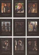 "Game of Thrones Season 4 - ""Quotable"" Set of 9 Chase Cards #Q31-39"