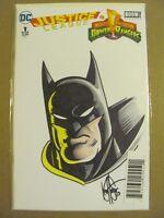 Justice League Power Rangers #1 DC Boom DF Original Ken Haeser Sketch Cover COA