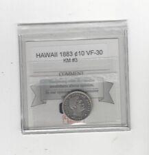 1883  Hawaii, 10 Cents , KM# 3