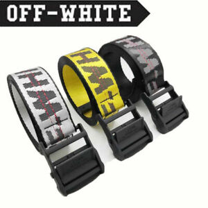 Off-White Girdle Tie Down Nylon Big IRON Head Industrial Belt Fashion Waistband