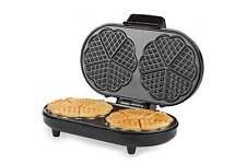 Andrew James 2 Slice Waffle Maker Iron Machine in Stainless Steel 1200 Watts